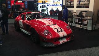 NASCAR driver Joey Logano's Factory Five Daytona Coupe at the PRI Show.