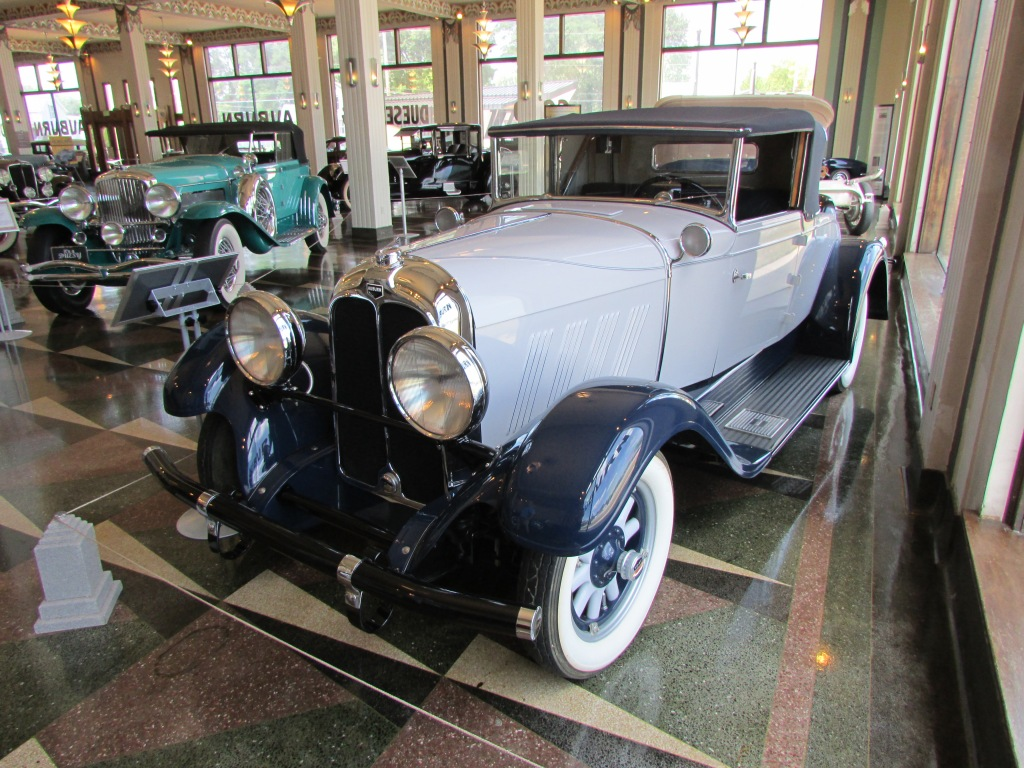 Auburn car on display at the Auburn Cord Duesenberg Museum.