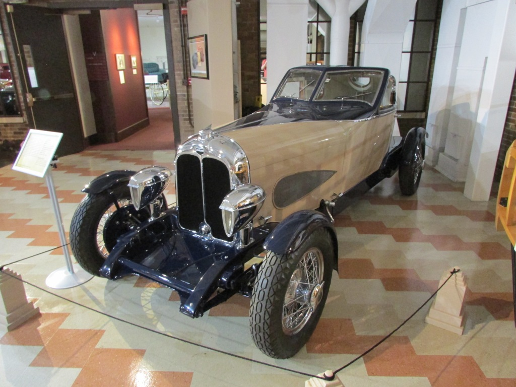 A replica of an Auburn on display at the Auburn Cord Duesenberg Museum.