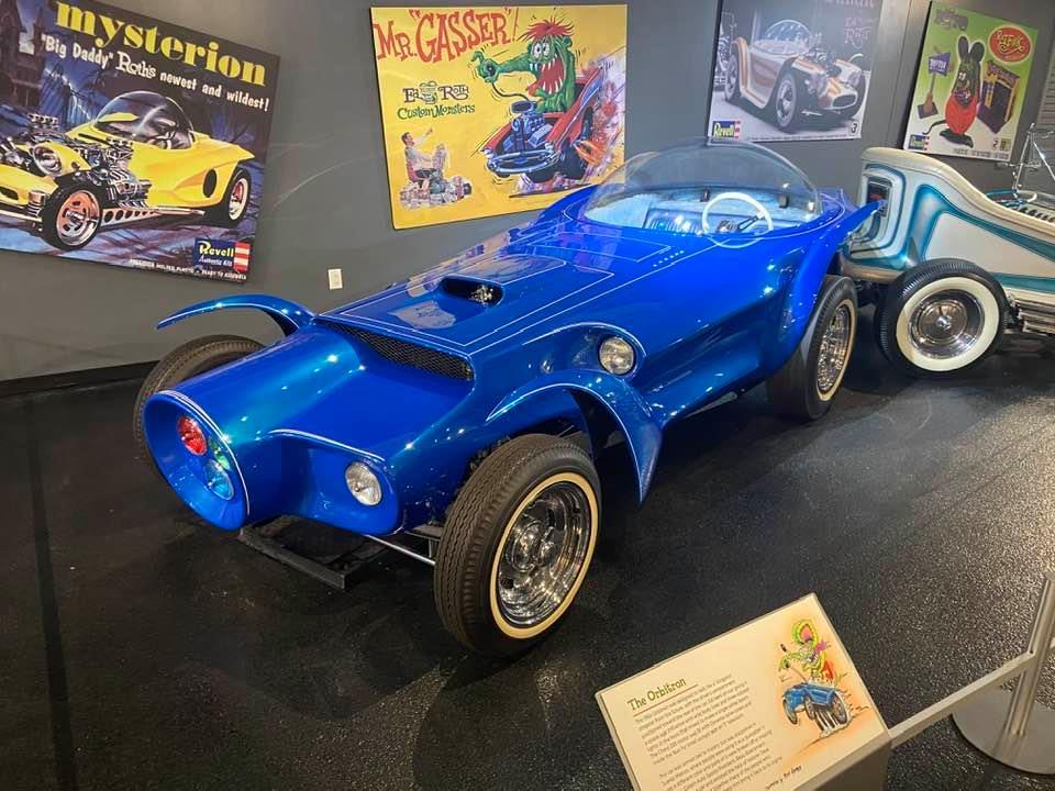 "Ed Roth's custom car called ""Orbitron."""