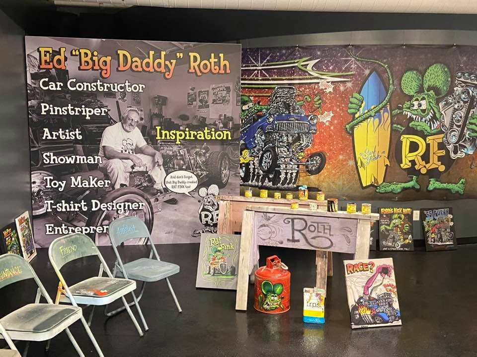 A display at the Ed Roth Exhibit at the National Corvette Museum.