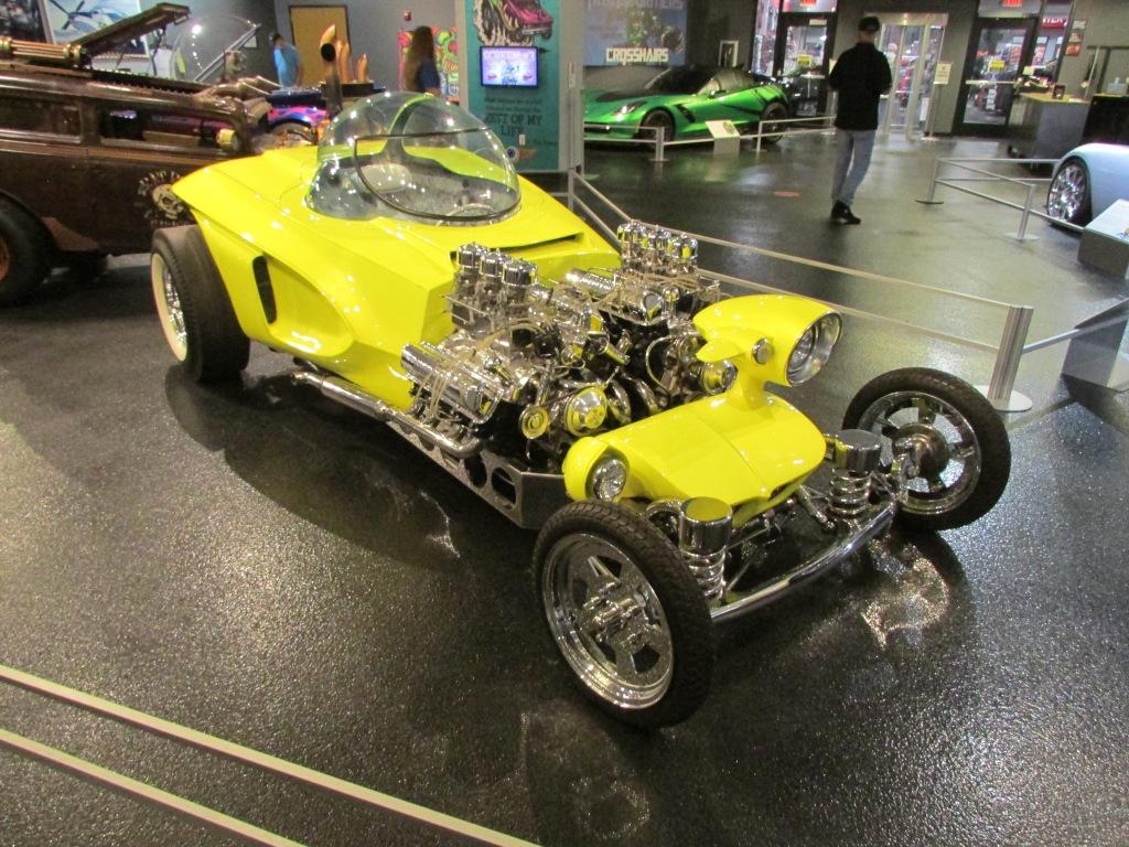 "A replica of Ed Roth's custom car ""Mysterion."""